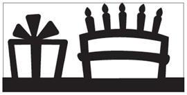 EK randpons Large Border punch  Birthday all. art.54-50034