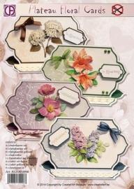 Creatief art plateau floral cards art 83903 op voorraad.