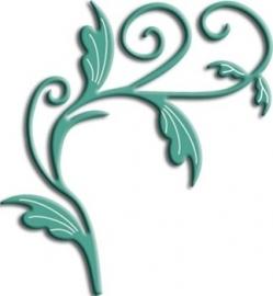 CLD snij en embossingsmal    jal. art.  B127 fantastische mooie Swirl.