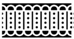 Martha Stewart  all.  Deep edge punch  All linked Trim  art. 42-70020 Voorraad 6 stuks