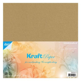 Joy Crafts  Kraft papier bruin 220gram 20 vel art.8089/0217