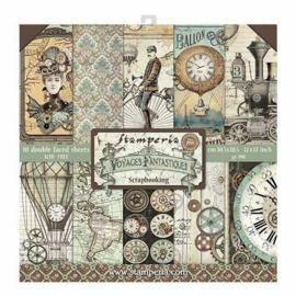 Stamperia paper pad  Voyages Fantastiques, 30,5x30,5 art SBBL53