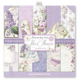 Stamperia paper pad Lilac Flowers 30,5x30,5cm art. SBBL21