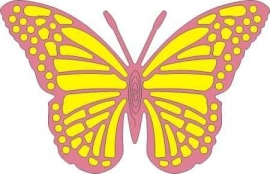 CLD snij en embossingsmal    jal. art. CLD 118 Exotic   Butterfly Large    voorraad 1x