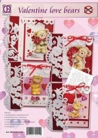 creatief art Valentine bears OP VOORRAAD