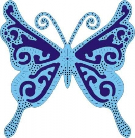 CLD snij en embossingsmal    jal. art. CLD 117  exotic    butterfly Large    voorraad 1x