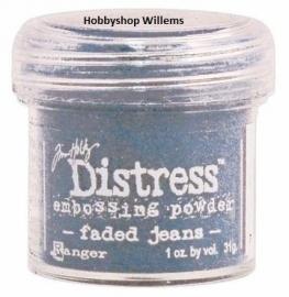 distress embossing pow. Tim Holtz./ . krs.art.         Faded Jeans     op voorraad aanwezig afhaalkorting 10%