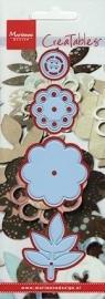 Marianne design creatable  ( flower with button ) LR0164   HW