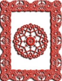 CLD snij en embossingsmal    jal. art. CLD 125 Celtic Fire Rectangle