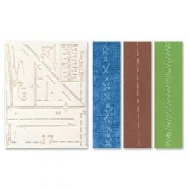 Embossingfolder krs.th art.115636-3816 pattern & stitches   2 st.