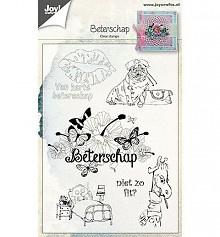 Joy Crafts clearstamp Beterschap art 6410/0461