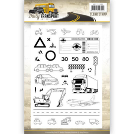 Amy Design clearstamp ASCS10035  Daily Transport