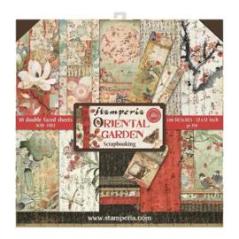 Stamperia paper pad Oriental  garden30,5x30,5cm art. SBBL58