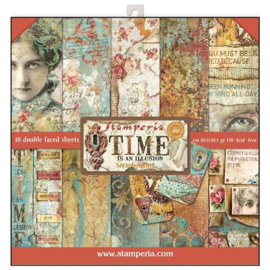 Stamperia paper pad  time is one Illusion 30,5x30,5cm art. SBBL33