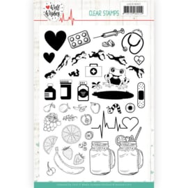Janine's art clearstamp JACS 10031 Well Wishes
