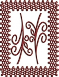 CLD snij en embossingsmal    jal. art. CLD 137    Japanese Lace and Flourish Frame