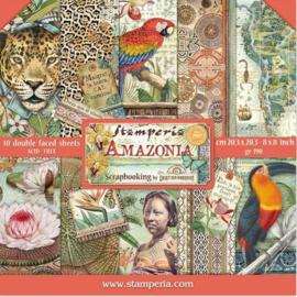Stamperia paper pad Amozonia komt media februari binnen voor orderen kan