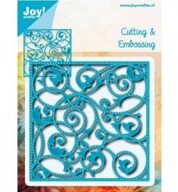 Joy Crafts 6002-0540 swirl vierkant