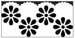 EK randpons Large  Border punch  Scallop Daisy all. art.54-50015 voorraad 3x