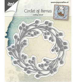 Joy Crafts 6002-0679 Circle of berries