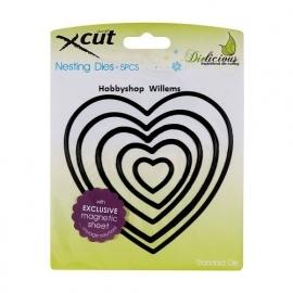 X CUT Nesting die f-it  art. 503004  Hearts  voorraad 2x  Afhalen in onze winkel kost deze € 10,95