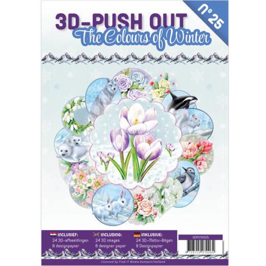 3-D Push out no 25 art. 3DPO10025 the Colors of Winter