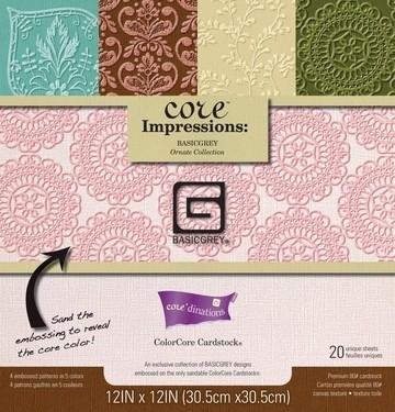 Core   impression paperblock  Grey    krs. 8016  30,5x30,5