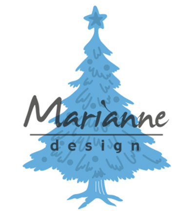 Marianne Design Tiny's Christmas tree with decorated LR0491