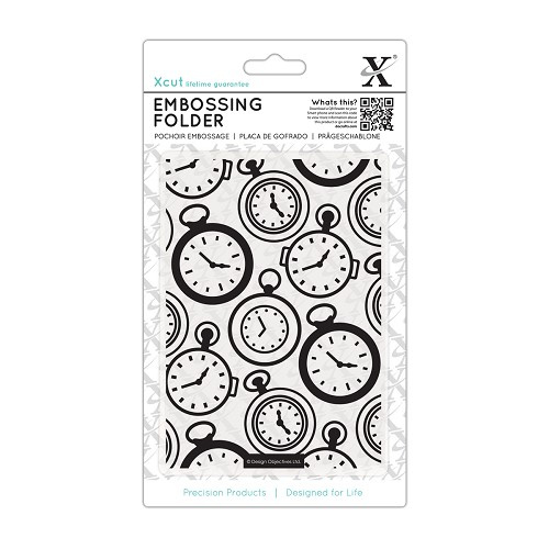 X Cut embossingfolder pocket watch. art XCU 515137