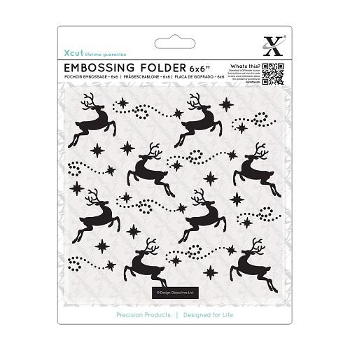 X CUT embossingfolder Raindeer art.  XCU 515907