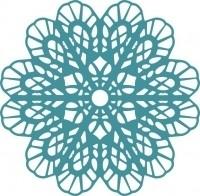 CLD snij en embossingsmal  Italian Flower Doily  jal. art. CLD 103 voorraad 1x
