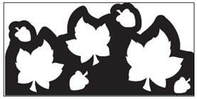 EK randpons Large  Border punch  Falling Leaves all. art.54-50035 voorraad 2x
