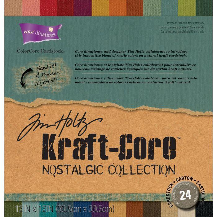 Tim Holtz Kraft - Core  Cardstock core dinations 24 vel
