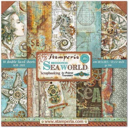 Stamperia  paper pad Sea World 30,5x30,5cm art. SBBL64