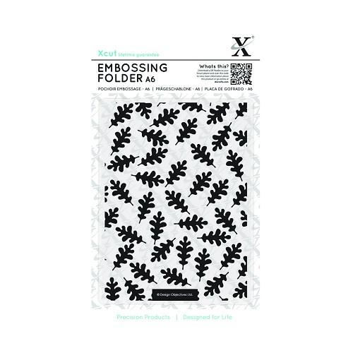 X Cut Embossingfolder Oak Leaf Pattern