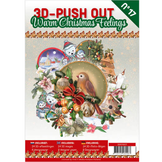 3-D Push out no 17 art. 3DPO10017 Warm Christmas Feelings