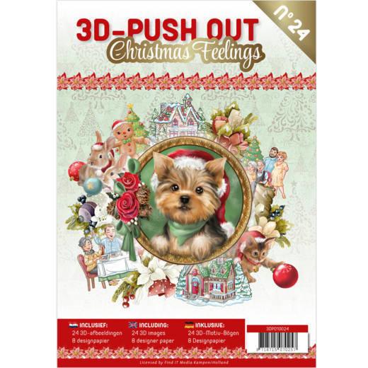 3-D Push out no 24 art. 3DPO10024 Christmas Feelings