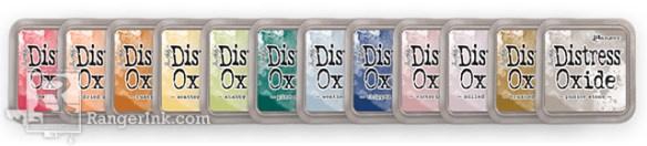 Ranger Distress oxide  12 nieuwe kleuren worden verwacht medio midden oktober 2018