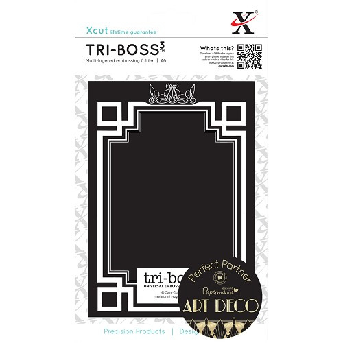 X Cut embossingfolder art Deco Frame