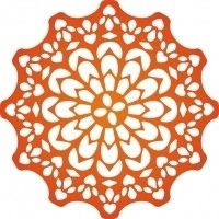 CLD snij en embossingsmal  Canadian Kaleidoscope Doily  jal. art. CLD 104 voorraad 2x