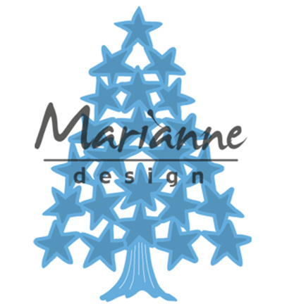 Marianne Design Tiny's Christmas tree with stars LR0490