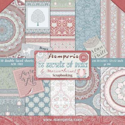 Stamperia  paper pad  Secrets of India 30,5x30,5cm art. SBBL71