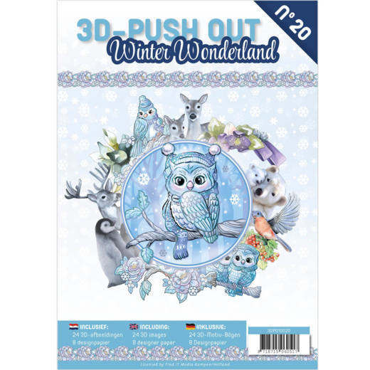 3-D Push out no 20 art. 3DPO10020 Winter Wonderland