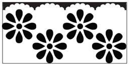 EK randpons Large  Border punch  Scallop Daisy all. art.54-50015 voorraad 3x