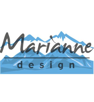 Marianne Design Horizon snowy mountains LR0493