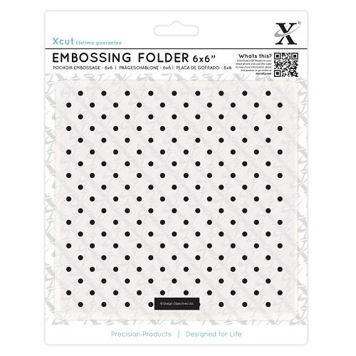 X Cut embossingfolder small polka dots art.XCU 515170