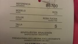 Stof/Lab jas Roze