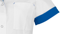 Dames Tuniek Jill Wit/Royal Blue