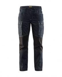 Dames Service Werkbroek Denim stretch