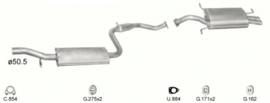 Complete uitlaat Volvo S40/V40 2.0 Benzine (182)